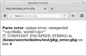 web-page-php-errors-on